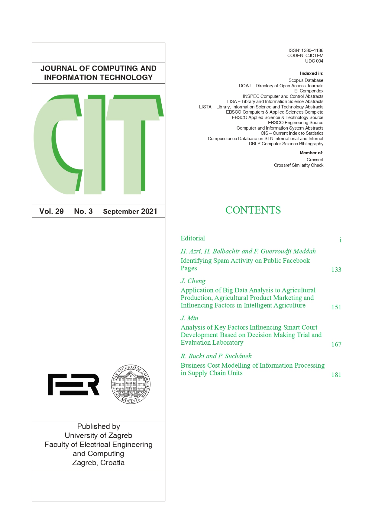 CIT  Journal of Computing and Information Technology